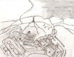 Fortress in Cursive Land by Sporthand