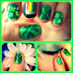St. Patrick's Day Nail Art by peachfan7