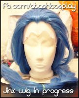 Jinx wig base WIP by xAtashix