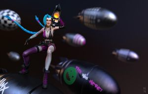 Jinx The loose cannon, beautyshot 02 by Azraele