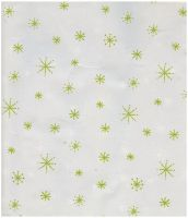 White with Lime Green Stars by webgoddess