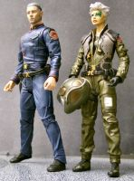 Commander and CAG by Roguewing