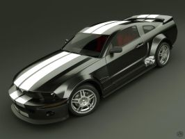 Mustang 2005 Black version 2 by Siregar3D