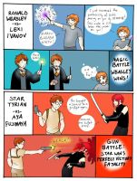 Redhead Battle p2 by StarTyrian