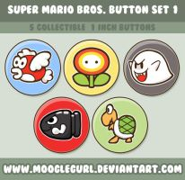 Super Mario Bros. Button Set 1 by MoogleGurl