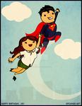 Superman and Lois Lane by anilineblack