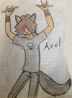 Wow I actually drew Axel and didnt fail by xTarynStormCaster