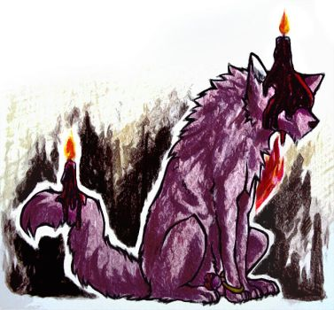 Candle Dog by GBByo