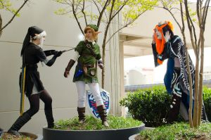 Link, Dark Link, and Midna by EmilyScissorhands
