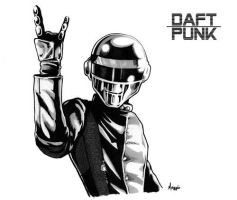 Daft Punk Rock On by WolfWaiter