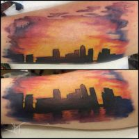 london skyline by Janaina