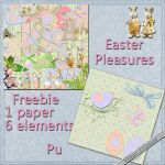 Easter Pleasures freebie by VianneScraps