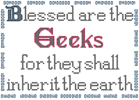 Blessed are the Geeks Cross Stitch Pattern by rhaben