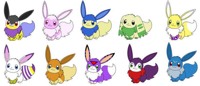 Eevee Requests and Adoptables by Aven-Mochi