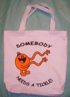 Mr Tickle Tote Bag by NeitherSparky