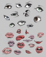 lips and eyes, eyes and lips by petedarooky