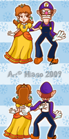 Daisy and Waluigi Relationship by MKDrawings