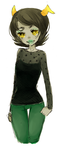 Kanaya in green pants by Costly