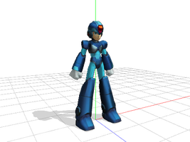 MMD Newcomer Megaman X by R4nd0mR3dM4g3