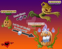 Pumpkin Fakemon Family by JamalPokemon