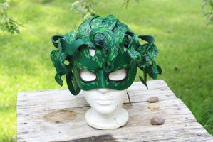 Medusa mask and head dress by SilverCicada