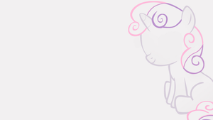 Minimalistic Sweetie Belle Wallpaper by MrFugums