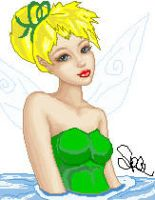Tink in Ocean by faery-dustgirl