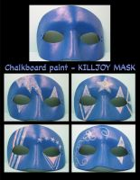 Killjoy chalkboard mask by maskedzone