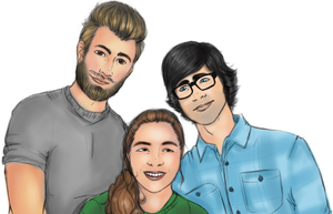 Christina, Rhett and Link by MizzNeon