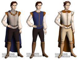 Prince Derek  (The Swan Princess) outfits by sarasarit