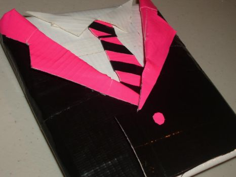 pink and black tux wallet by Notjustsilver04