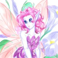 Fairy with flowers by bugsytrex