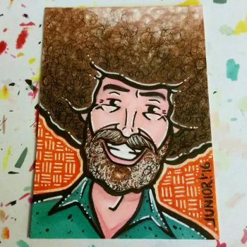 ATC - Bob Ross by juniorbethyname