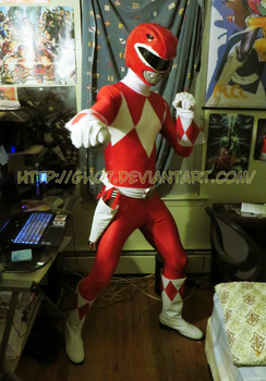 Red Ranger Cosplay Shot by gh07