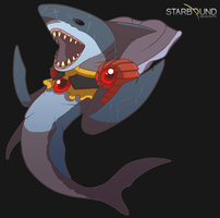 Starbound - Sharkillian by Dragonith