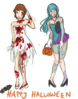 BA: Halloween Fashion Assignment (eeEEP IM LATE) by otakujeanette
