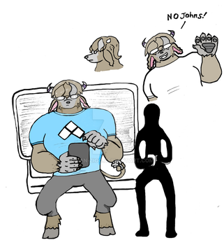 Guy actually likes fighting game tournies colored by dan-zigg