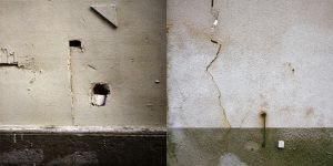 cracks in a wall by edredon