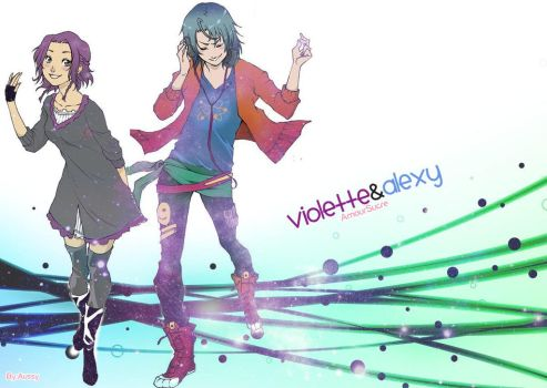 Amour Sucre - Alexy and Violette Wallpaper by Aussy-hime