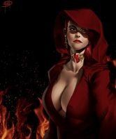 The Red Priestess by megaween