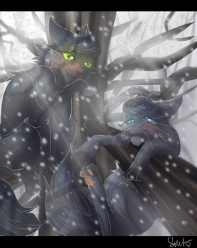 Hollyleaf and Cinderheart (Warrior Cats) by WarriorCat3042