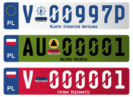 Registration plates vol. 2 by FollowByWhiteRabbit