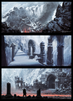 Ice Environment Tryptic 2 by JoshEiten