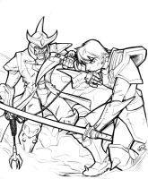 Ronin Warriors: Ryo and Anubis by AdamWithers