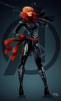 Black Widow Natasha Romanoff by Arkenstar
