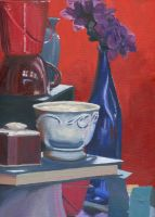 Blue and Red Still Life by JRettberg