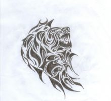 Tribal Lion by AndrewKFM