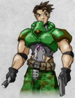 Doomguy Cartoon Coloured by Coopersville