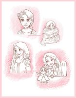 Tangled : Rapunzel sketches by Sweet-Hope