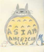 Totoro advertises for a club by sharpjet